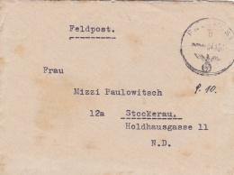 Feldpost WW2: Kommando 546. Grenadier-Division  FP 39525 P/m 4.10.1944 - Typewritten Letter Inside  (T8A17)