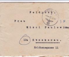 Feldpost WW2: Kommando 546. Grenadier-Division  FP 39525 P/m  26.9.1944 - Typewritten Letter Inside  (T8A17)