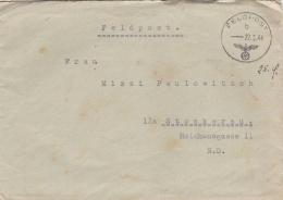 Feldpost WW2: Kommando 546. Grenadier-Division  FP 39525 P/m  22.9.1944 - Typewritten Letter Inside (T8A17)