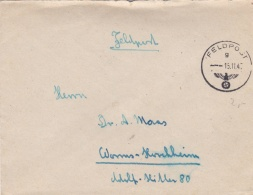 Feldpost WW2: Grenadier-Regiment 487 (5./II)  FP 03636B P/m 15.11.1943 - Cover Only  (T8A17)