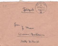 Feldpost WW2: From Boulogne In France - Reserve-Infanterie-Bataillon 467 (2. Kompanie)  FP 28958C P/m 9.7.1943 - Letter