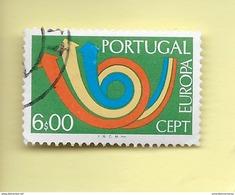 TIMBRES - STAMPS - PORTUGAL - 1973 - EUROPE CEPT - TIMBRE OBLITÉRÉ CLÔTURE DE SÉRIE