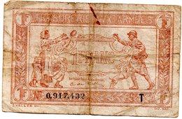 Trésorerie Aux Armées Billet De 1 Francs  Série T - 1917-1919 Army Treasury