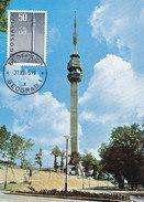 D28781 CARTE MAXIMUM CARD 1965 YUGOSLAVIA - TELECOMMUNICATION TOWER BEOGRAD CP ORIGINAL