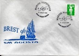 Marcophilie Navale - Enveloppe - Brest 96 - Sous-marin AGOSTA - Boten