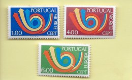 TIMBRES - STAMPS - PORTUGAL - 1973 - EUROPE CEPT - SÉRIE TIMBRES NEUFS - MHN