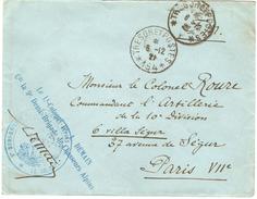 Lettre  Franchise Militaire FM - Cachet Trésor Et Postes - Secteur Postal 154 étoile 6 - 6.12.1921