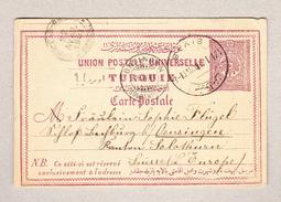 Türkei SIVAS 17.1.1904 Ganzsache 20 Paras Mit AK-Stempel Oensingen - 1858-1921 Empire Ottoman