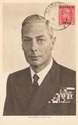 D28786 CARTE MAXIMUM CARD 1948 BAHRAIN - KING GEORGE VI CP ORIGINAL