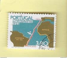 TIMBRES - STAMPS - PORTUGAL -1972- CINQUANTENAIRE DE LA 1er.. L'AIR TRAVERSE LISBONNE-RIO DE JANEIRO - TIMBRE OBLT