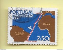 TIMBRES - STAMPS - PORTUGAL - 1972 - CINQUANTENAIRE DE LA 1er.. L'AIR TRAVERSE LISBONNE-RIO DE JANEIRO - TIMBRE OB