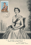 D28789 CARTE MAXIMUM CARD 1964 ST LUCIA - QUEEN ELIZABETH CP ORIGINAL