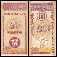 MONGOLIA :  20 Mongo  Del 1993  Pick 50  FdS  UNC - Mongolia