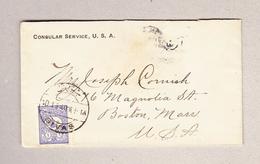 Türkei SIVAS 10.1.1904 Consulate Brief 1 Piastre Nach Boston USA - Lettres & Documents