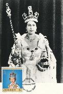 D28791 CARTE MAXIMUM CARD 1977 JERSEY - QUEEN ELIZABETH CP ORIGINAL