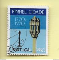 TIMBRES - STAMPS - PORTUGAL - 1972 - BICENTENAIRE DE LA VILLE DE PINHEL - TIMBRE OBLITÉRÉ CLÔTURE DE SÉRIE