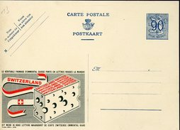 18686 Belgium, Stationery Card 90c.publibel Chees Emmental Of Switzerland, Fromage Emmental