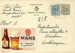 18688 Belgium, Stationery Card 1,20c.publibel Circuled 1957 Biere Mans,  Beer Mans