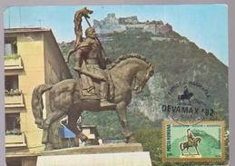 MAXIMUM CARD SCLUPTURES -=KING DECEBAL-MAXI CARD ROMANIA MONUMENTS -STAUE DECEBAL