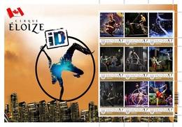 Ukraine. Circus Cirque Eloize (Canada). Personalized. MNH - Zirkus