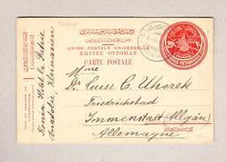 Türkei Konia 1.6.1914 UPU Ganzsache 20paras Nach Immenstadt - 1858-1921 Empire Ottoman