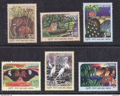 INDIA, 2017, Nature India, Fauna, Animals, Butterfly, Tiger, Set 6 V, MNH, (**)