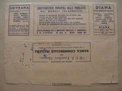 Italy Telegram 1934-05-07 Telegramma Diana Advert Tennis Skiing Ski Tiro Fishing Hunting Horseracing Auto Moto Avio - Tennis