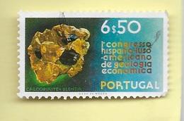 TIMBRES - STAMPS - PORTUGAL - 1971 - GÉOLOGIE ÉCONOMIQUE - TIMBRE OBLITÉRÉ CLÔTURE DE SÉRIE