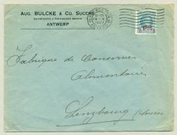 België - 1927 - 1,75 Opdruk Op 1,5F Houyoux Op Brief Van Antwerpen Naar Lenzbourg / Suisse