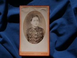 Photo CDV Brulay à Angoulême - Portrait Militaire Du 34e RA Circa 1875 L296 - Photographs