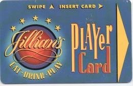 Jillian's Player Card Rechargeable : Eat Drink Plan - Casino Cards