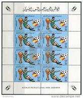 Libyan 1982. Michel #990 I-VIII MNH/Luxe. Soccer. WC Spain-82. Klb. (Ts22/27)
