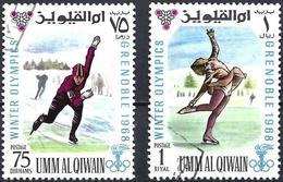 Umm Al-Qiwain 1968 - Grenoble Olympics : Speed And Figure Skating ( Mi 235/36 - YT 75/3-75/4 )