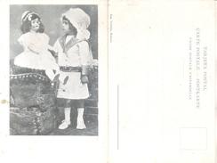 ENFANT AVEC POIGNET - GIRL WITH HER DOLL - RARISIME CPA EDITEUR VALLOIRE A RAFAELA SANTA FE YEAR 1890 ARGENTINE TOP COLL - Speelgoed & Spelen