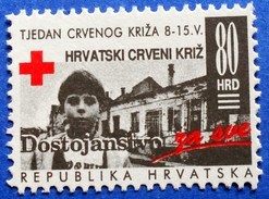 CROATIA CHARITY MNH STAMP 80 HRD 1993 RED CROSS DIGNITY - Croatie