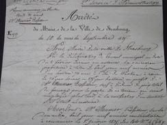 STRASBOURG (67) - Accord Du 18 Septembre 1835 Pour BAIL à L'ÎLE Du WACKEN, à M Meunier, Professeur - A Voir ! - Historische Dokumente