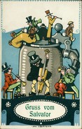 AK Gruss Vom Salvator Sign. Otto Obermeier, O 1910 (1100) - Pubblicitari