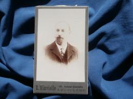 Photo CDV R. Minvielle à Angoulême - Portrait Homme Au Bouc Circa 1900 L296 - Photos