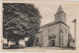 TROCHE (36) - L'EGLISE ET LA PLACE DU MARRONNIER - Andere Gemeenten