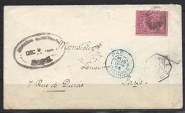 Colombie Pour La France En 1893 Ligne A