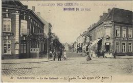 """1914- C P A D'HAZEBROUCK ( Nord )en F M """" 9è Section Des Chemins De Fer De Campagne / Division De La Voie"""