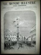 MONDE ILLUSTRE Attentat Roi ITALIE Naples AFGHANISTAN Fete Lima PEROU Theatre Gravure VIERGE HAENEN KAUFFMANN LIX 1878 - Revistas - Antes 1900