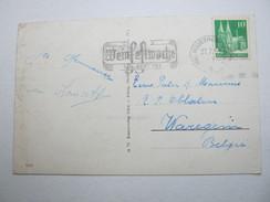 1951 , Rüdesheim -  Weinfestwoche ,  Klarer Stempel Auf Karte