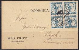 Yugoslavia Kingdom SHS Croatia 1920 Verigari (Chain-breakers), Postal Card - 1919-1929 Royaume Des Serbes, Croates & Slovènes