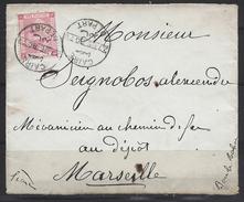 Caire Pour Marseille ( Devant De Lettre ) - Africa (Other)