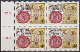 Österreich  1981 Nr.1675  4er Block ** Postfrisch 800 JahreStadt Veit An Der Glan ( 4356 )