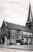 Cpa (02) Etreaupont - L Eglise( Roulote Tres Belle Carte Ra..)
