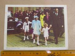 Chromo AIGLON N° 11 Photogravure SOUVERAINS ET PRINCES Belgique Roi Léopold 3 Famille Royale Chocolat Trading Card - Aiglon