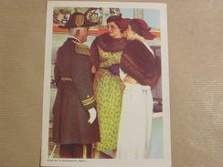 Chromo AIGLON N° 9 Photogravure SOUVERAINS ET PRINCES Belgique Roi Léopold 3 Famille Royale Chocolat Trading Card - Aiglon