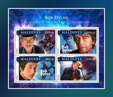 MALDIVES 2016 ** Bob Dylan Nobel Prize Nobelpreisträger Prix Nobel M/S - OFFICIAL ISSUE - A1707